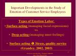 important developments in the study of emotion of customer service employees1