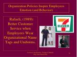organization policies inspire employees emotion and behavior