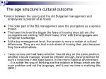 the age structure s cultural outcome