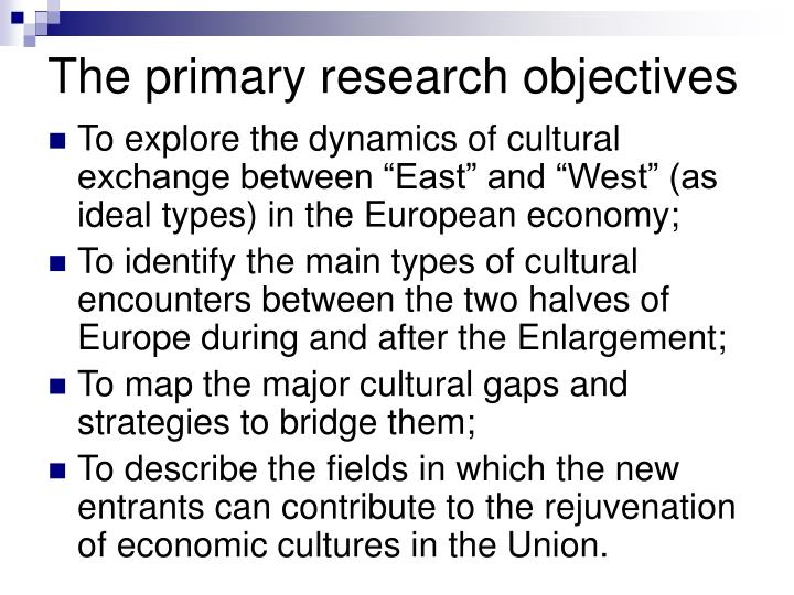 The primary research objectives