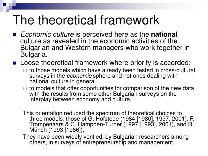 The theoretical framework
