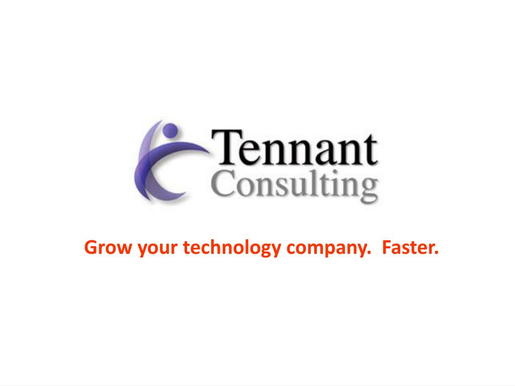 Grow your technology company.  Faster.