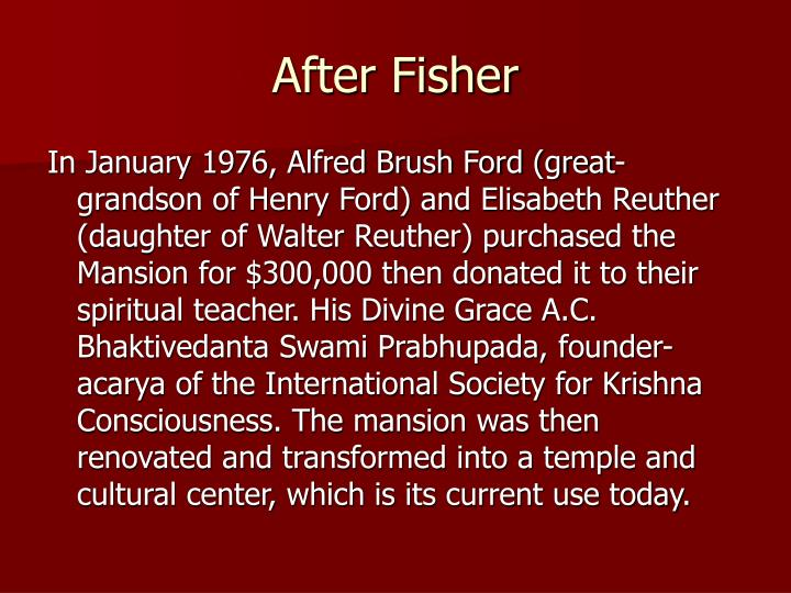 After Fisher