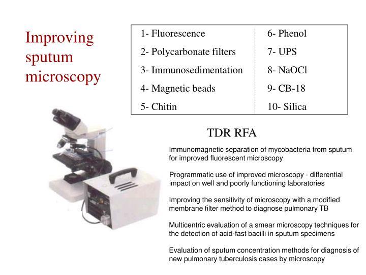 Improving sputum microscopy