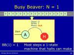 busy beaver n 1