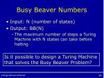 busy beaver numbers1
