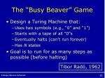 the busy beaver game