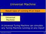 universal machine