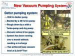 new vacuum pumping system