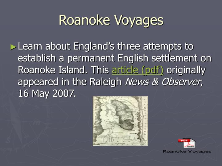 Roanoke Voyages