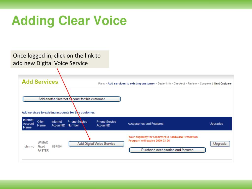 Adding Clear Voice
