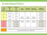 credit based plans11