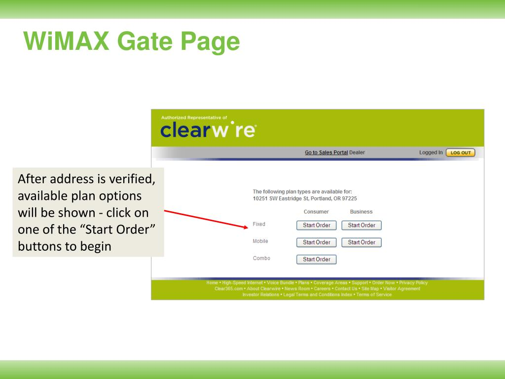 WiMAX Gate Page