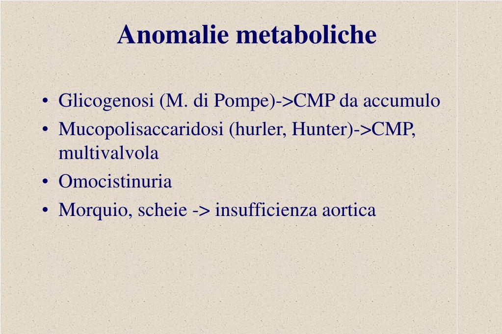 Anomalie metaboliche