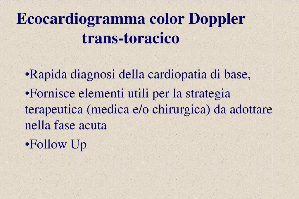 Rapida diagnosi della cardiopatia di base,