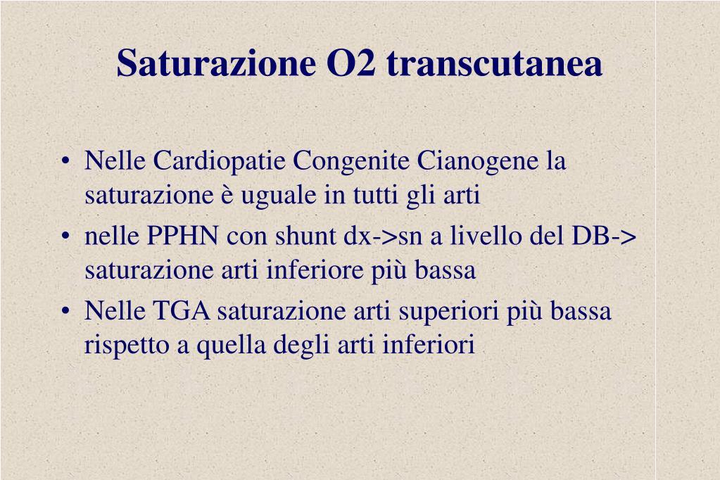 Saturazione O2 transcutanea