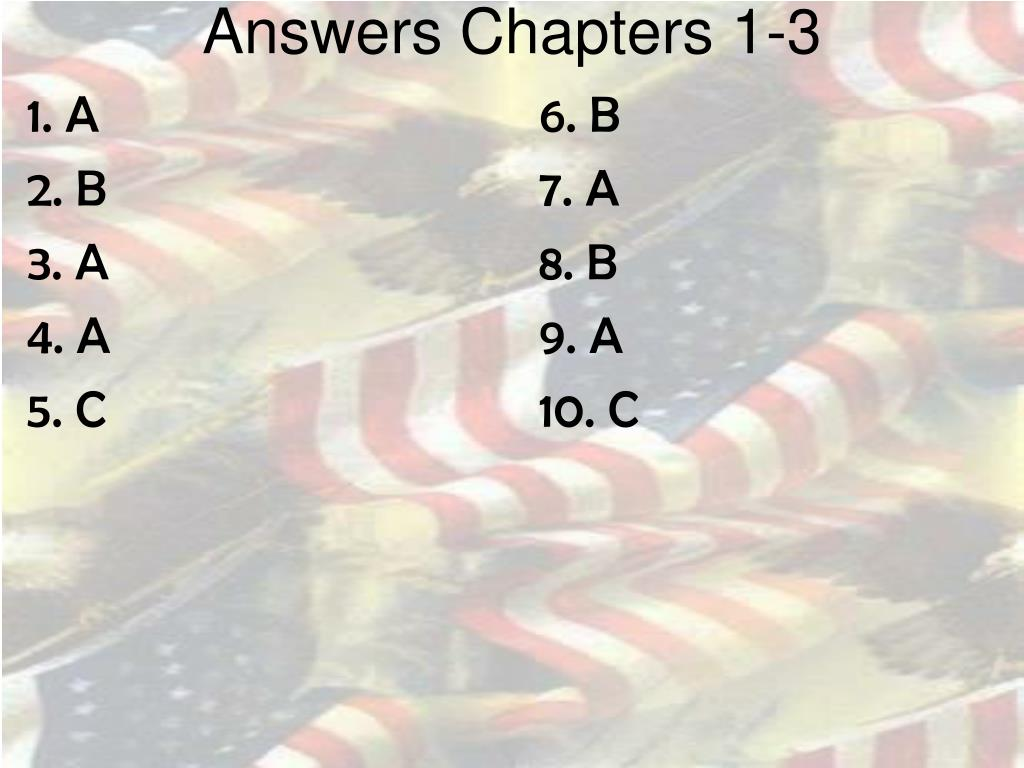 Answers Chapters 1-3