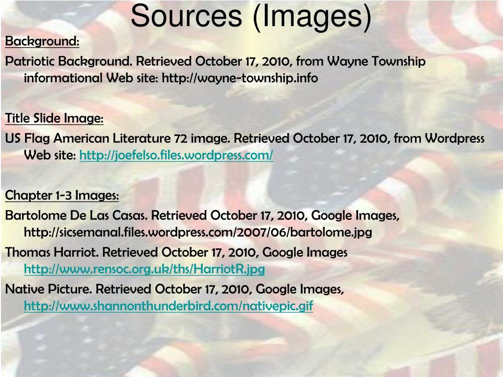 Sources (Images)