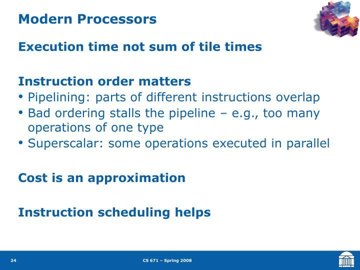 Modern Processors