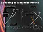 colluding to maximize profits17