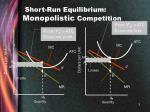 short run equilibrium monopolistic competition