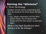 solving the dilemma31