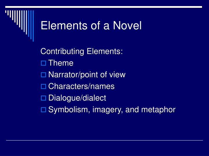 Elements of a novel3