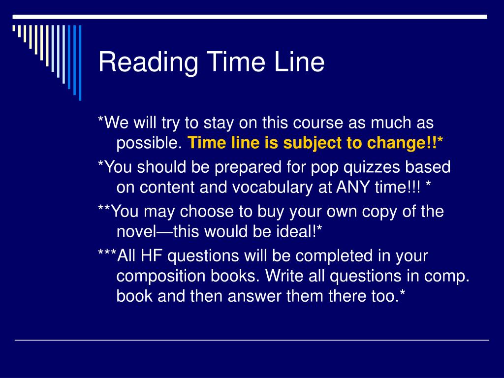 Reading Time Line