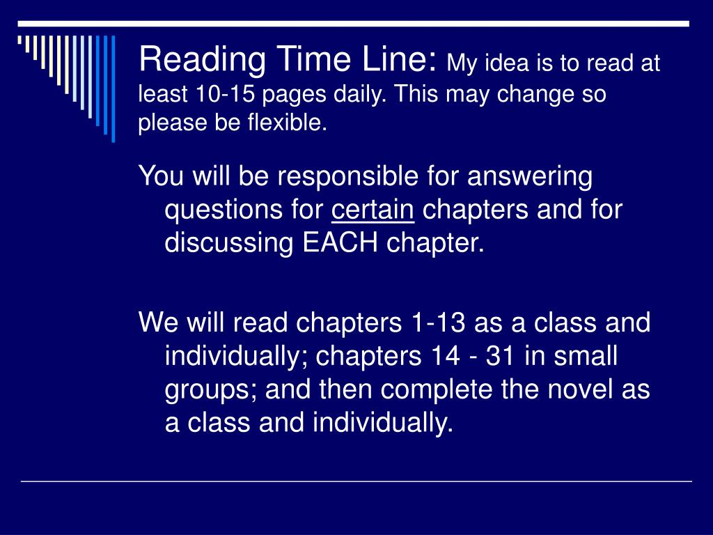 Reading Time Line: