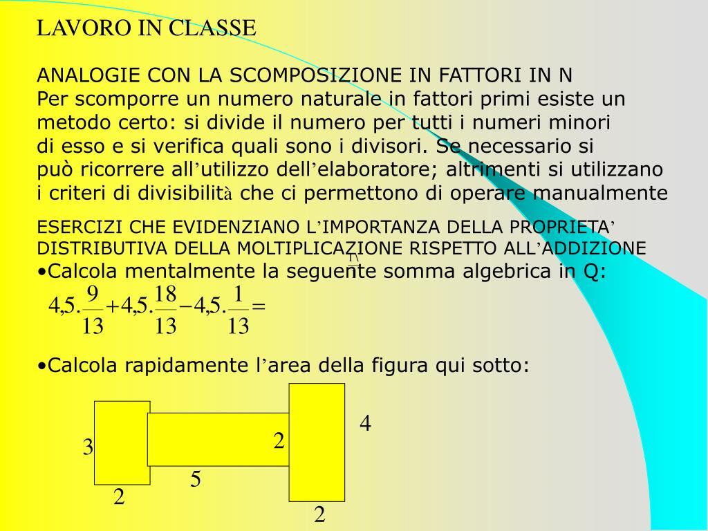 LAVORO IN CLASSE