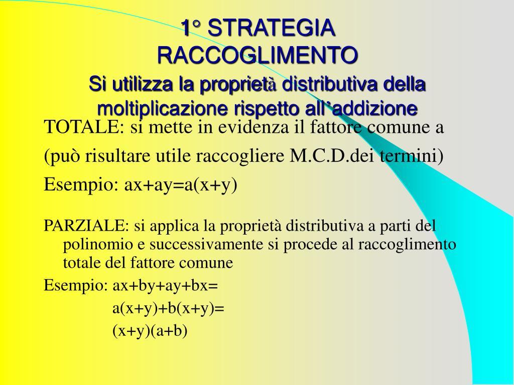 1° STRATEGIA
