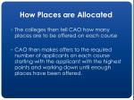 how places are allocated16