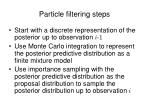 particle filtering steps