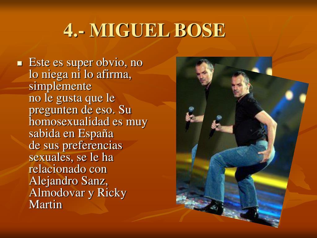 4.- MIGUEL BOSE