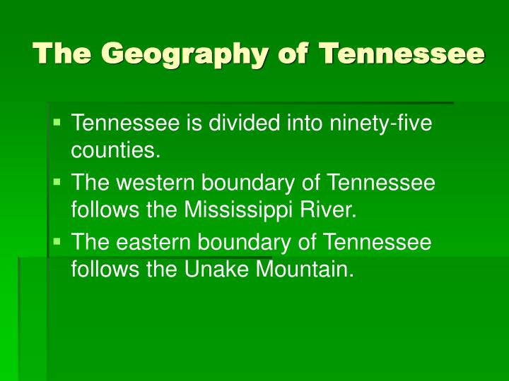 The geography of tennessee3
