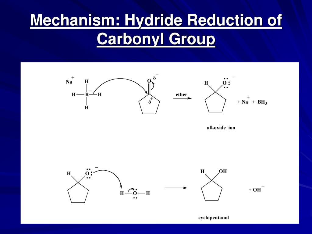 ketone reduction using sodium borohydride