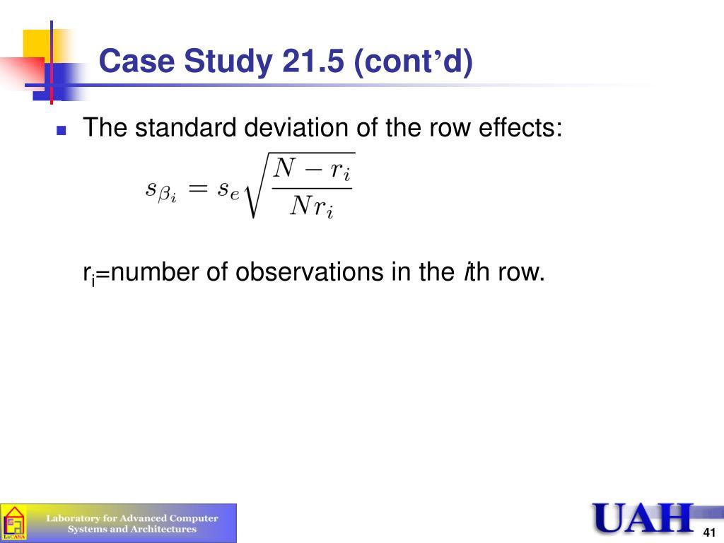 Case Study 21.5 (cont