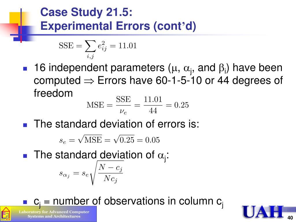 Case Study 21.5: