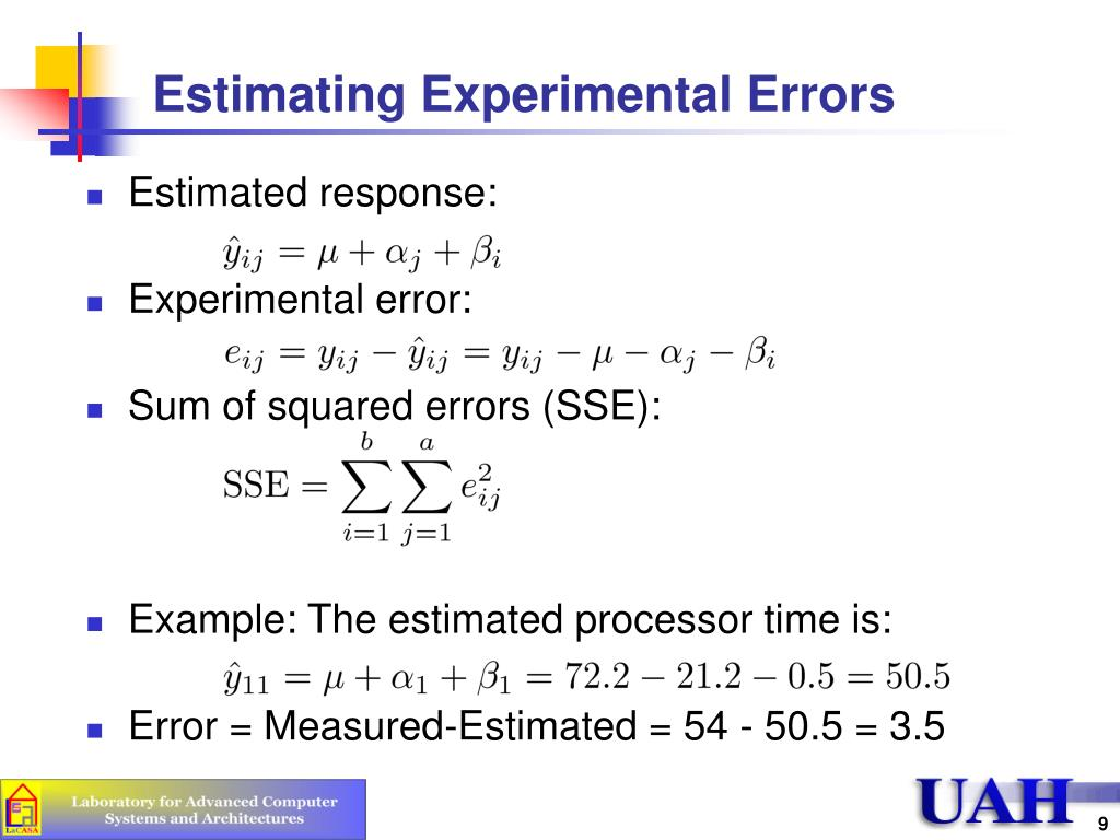 Estimating Experimental Errors