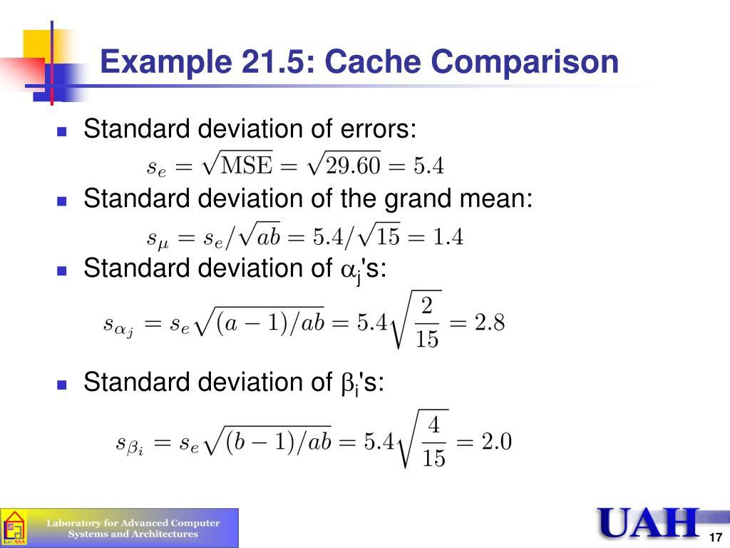 Example 21.5: Cache Comparison