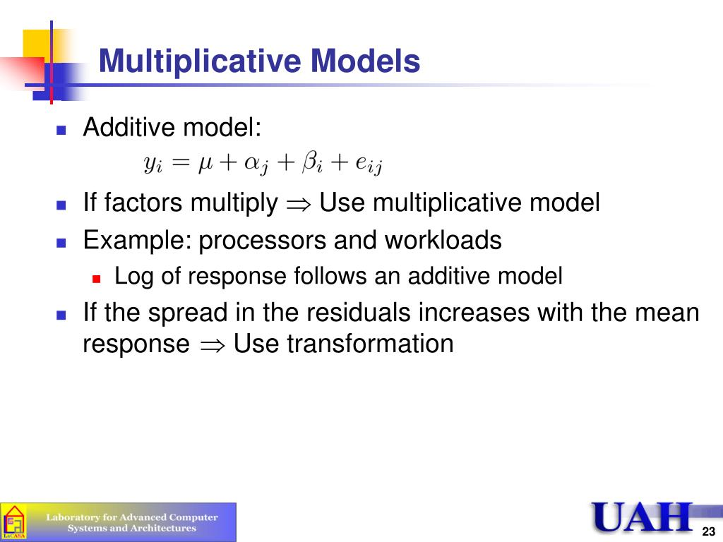 Multiplicative Models