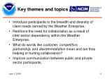 key themes and topics11