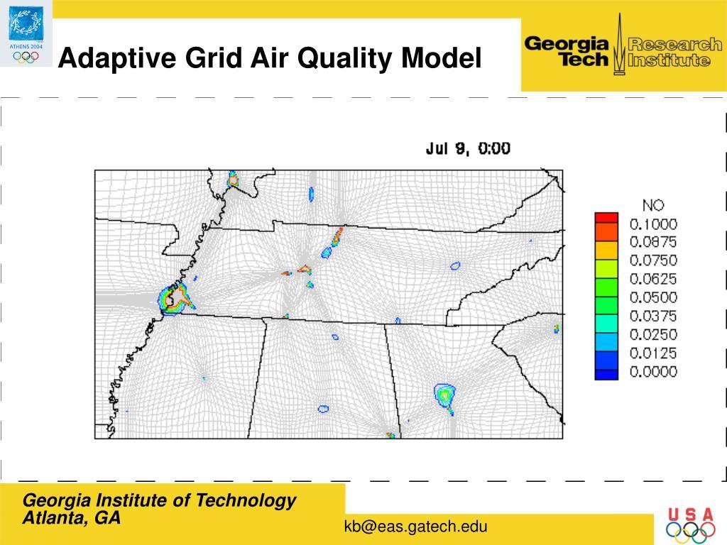 Adaptive Grid Air Quality Model