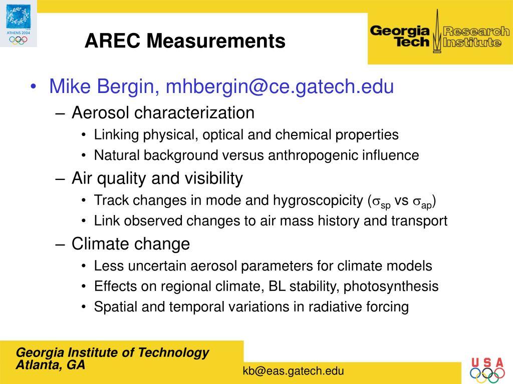 AREC Measurements