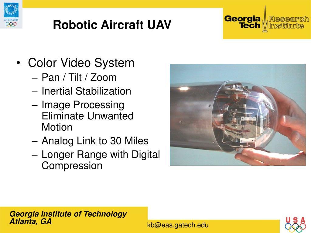 Robotic Aircraft UAV