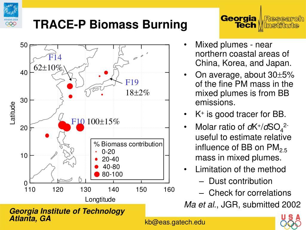 TRACE-P Biomass Burning