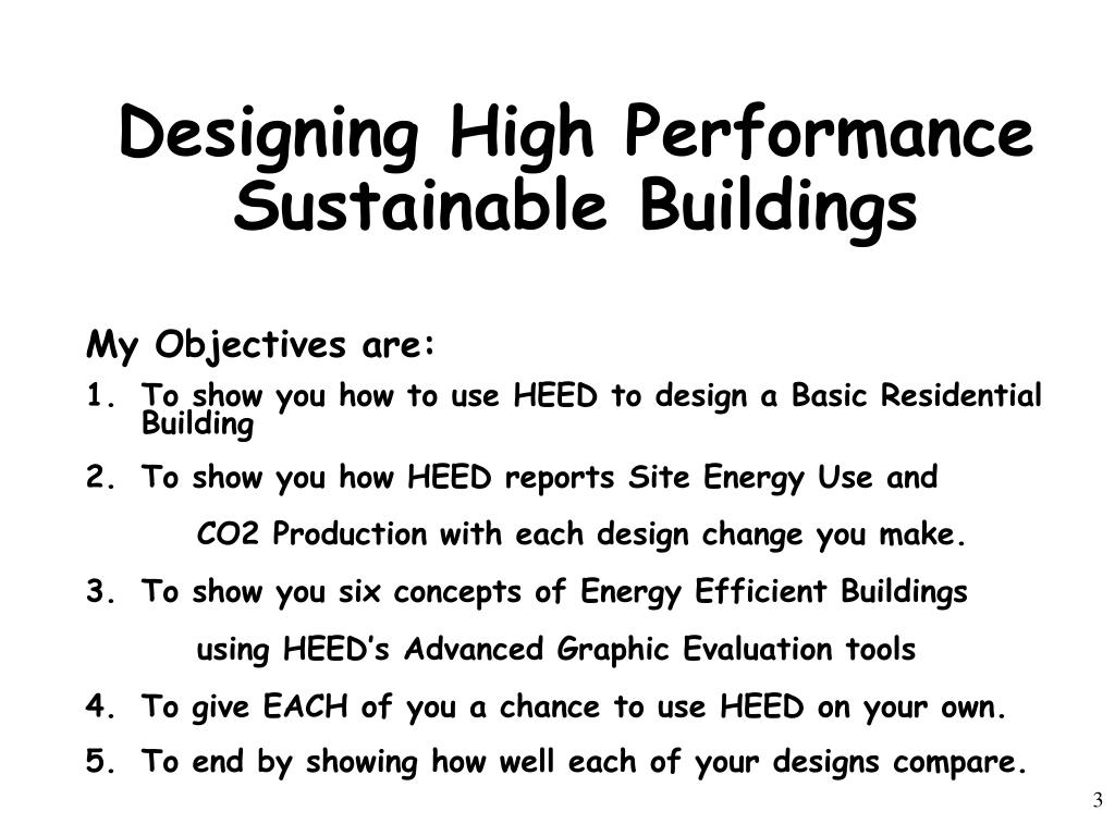 Designing High Performance Sustainable Buildings