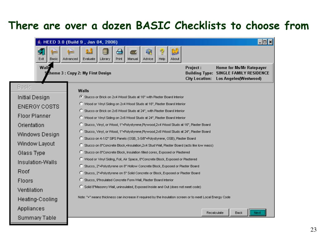 There are over a dozen BASIC Checklists to choose from