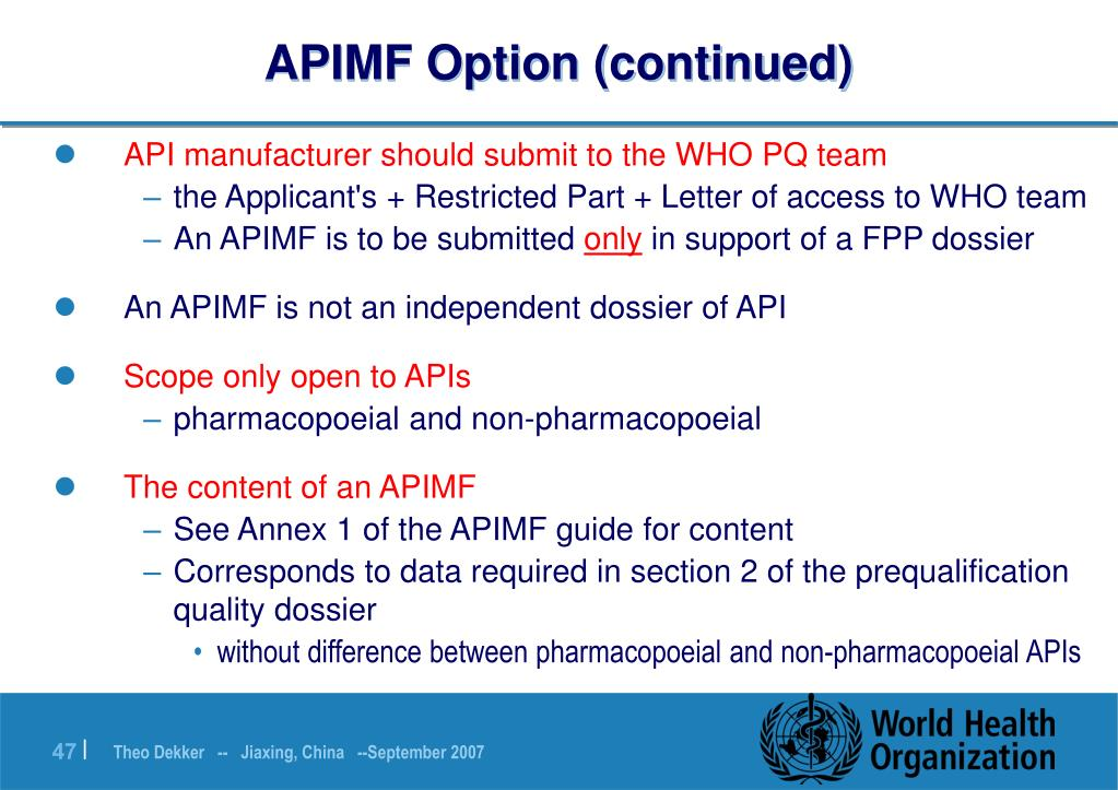 APIMF Option (continued)