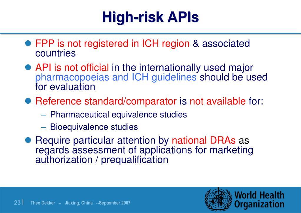 High-risk APIs